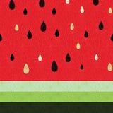 Naadloos watermeloenpatroon Royalty-vrije Stock Foto's
