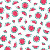 Naadloos watermeloenpatroon Royalty-vrije Stock Foto