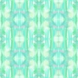 Naadloos waterverf abstract etnisch sier stammenpatroon Vector Illustratie