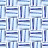 Naadloos waterverfpatroon, hand getrokken geometrische achtergrond royalty-vrije illustratie
