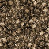 Naadloos waterverfpatroon met pioenen Stock Fotografie