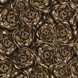 Naadloos waterverfpatroon met pioenen Royalty-vrije Stock Afbeelding