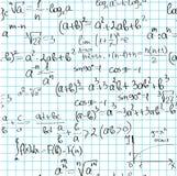 Naadloos wiskundepatroon Stock Afbeeldingen