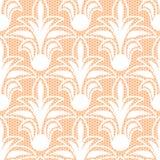 Naadloos wit bloemenkantpatroon Stock Afbeeldingen