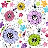 Naadloos wit bloemenpatroon Stock Foto's