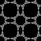Naadloos Wit Ornament op Zwarte Achtergrond Royalty-vrije Stock Foto