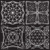 Naadloos wit patroon van diamantknipsel Royalty-vrije Stock Foto's