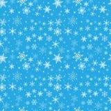 Naadloos wit patroon van sneeuwvlokken Stock Afbeelding