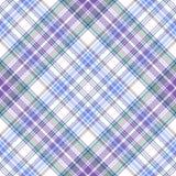 Naadloos zacht geruite Schotse wollen stof diagonaal patroon Stock Foto's