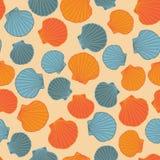 Naadloos zeeschelpmalplaatje Abstract patroon Stock Afbeeldingen