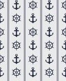 Naadloos zeevaartpatroon Stock Afbeeldingen