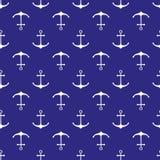 Naadloos zeevaartpatroon Stock Foto