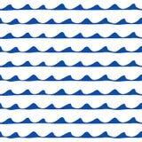 Naadloos zeevaartpatroon Stock Fotografie