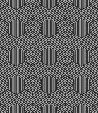 Naadloos zeshoekenpatroon Geometrische textuur royalty-vrije illustratie