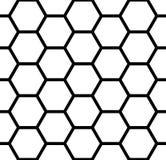 Naadloos zeshoekenpatroon Witte en zwarte geometrische textuur en achtergrond royalty-vrije illustratie