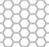 Naadloos zeshoekenpatroon Witte geometrische achtergrond royalty-vrije illustratie