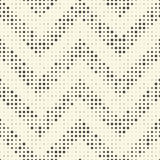 Naadloos zigzagpatroon Abstract Zwart-wit Dots Background Stock Afbeeldingen