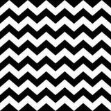Naadloos zigzagpatroon in zwart-wit Stock Afbeelding