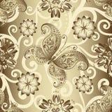 Naadloos zilverachtig bloemenpatroon stock illustratie