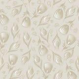 Naadloos zilveren bloemen vectorpatroon Royalty-vrije Stock Fotografie