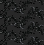 Naadloos zwart en zilveren gebladertepatroon Royalty-vrije Stock Foto's