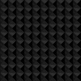 Naadloos zwart geometrisch in reliëf gemaakt patroon Royalty-vrije Stock Foto's
