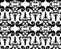 Naadloos zwart patroon Royalty-vrije Stock Afbeeldingen