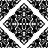 Naadloos zwart Patroon op een witte Achtergrond. Stock Afbeelding