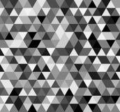 Naadloos zwart wit abstract patroon Geometrische die druk uit driehoeken wordt samengesteld Zwart-wit achtergrond Stock Afbeelding