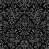 Naadloos zwart-wit behangpatroon Royalty-vrije Stock Afbeeldingen