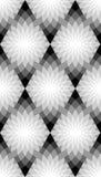 Naadloos zwart-wit bloemenpatroon Geometrische abstracte achtergrond Geschikt voor textiel, stof en verpakking Royalty-vrije Stock Afbeelding