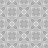 Naadloos zwart-wit decoratief patroon voor het kleuren van boekpagina vector illustratie