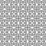 Naadloos zwart-wit geometrisch patroon Stock Afbeeldingen