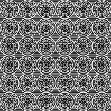 Naadloos zwart-wit geometrisch sterpatroon Vector Royalty-vrije Stock Foto's