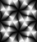 Naadloos Zwart-wit Golvend Driehoekenpatroon Geometrische abstracte achtergrond Geschikt voor textiel, stof, verpakking Royalty-vrije Stock Afbeelding