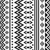 Naadloos zwart-wit Indisch patroon Royalty-vrije Stock Foto's