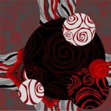 Naadloos zwart-wit lapwerkpatroon met bloemen - voorraad vector illustratie