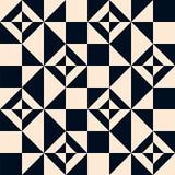 Naadloos zwart-wit meetkunde vectorpatroon Abstract ornament i royalty-vrije illustratie