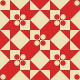 Naadloos zwart-wit meetkunde vectorpatroon Avantgarde abstract ornament royalty-vrije illustratie