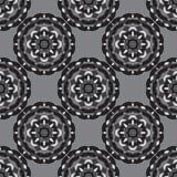 Naadloos zwart-wit ornament Stock Foto