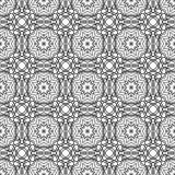 Naadloos zwart-wit ornament Royalty-vrije Stock Afbeelding