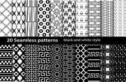 naadloos zwart-wit patroon 20 Royalty-vrije Stock Fotografie