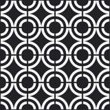 Naadloos zwart-wit patroon Royalty-vrije Stock Afbeelding