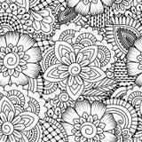 Naadloos zwart-wit patroon Royalty-vrije Stock Foto