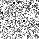 Naadloos zwart-wit patroon Stock Foto's