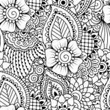 Naadloos zwart-wit patroon Stock Foto