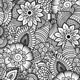 Naadloos zwart-wit patroon Stock Afbeelding