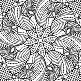 Naadloos zwart-wit patroon Stock Afbeeldingen
