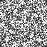 Naadloos zwart-wit patroon Royalty-vrije Stock Fotografie