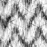 Naadloos zwart wit patroon Dunne zwarte lijnen op een witte achtergrond Stock Afbeelding